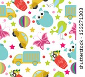 cute animal seamless | Shutterstock .eps vector #133271303