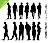 peoples silhouettes vector | Shutterstock .eps vector #133291883