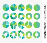eco pie diagram set. circle... | Shutterstock .eps vector #133298537