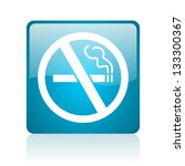 no smoking blue square web... | Shutterstock . vector #133300367