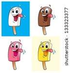 ice creams in 4 colors   flavors | Shutterstock . vector #133323377