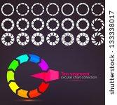 ten segment graph circular... | Shutterstock .eps vector #133338017