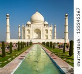 view of taj mahal  agra  uttar... | Shutterstock . vector #133342367
