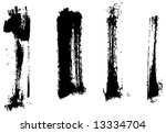 grungy brush strokes set | Shutterstock .eps vector #13334704