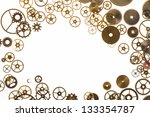 Watch Cogs On White Forming A...