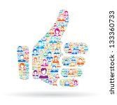 thumb up | Shutterstock .eps vector #133360733