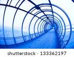 Blue Covered Air Bridge. Mosco...