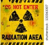 radiation area warning  vector... | Shutterstock .eps vector #133363307