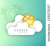 summer background with... | Shutterstock .eps vector #133373237
