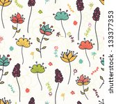 colorful floral seamless...   Shutterstock .eps vector #133377353
