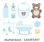 baby icon set   child stuff | Shutterstock .eps vector #133391447