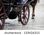 Old Horse Drawn Carriage On A...
