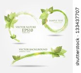 set of three banners with fresh ... | Shutterstock .eps vector #133437707