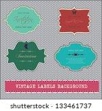 vintage labels background | Shutterstock .eps vector #133461737
