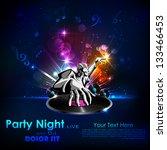 illustration of disco jockey... | Shutterstock .eps vector #133466453
