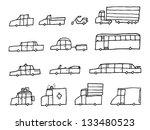 cartoon cars   funny... | Shutterstock .eps vector #133480523