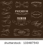calligraphic design elements... | Shutterstock .eps vector #133487543