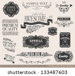 calligraphic design elements... | Shutterstock .eps vector #133487603