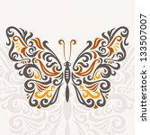 abstract butterfly  vector... | Shutterstock .eps vector #133507007