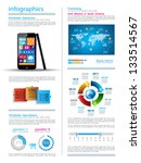 modern infographic with a touch ... | Shutterstock . vector #133514567
