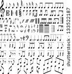 music symbols | Shutterstock .eps vector #133522187