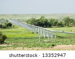 a gas pipeline crossing a river ... | Shutterstock . vector #13352947