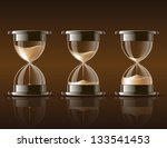sand falling in the hourglass... | Shutterstock .eps vector #133541453