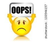 vector oops symbol | Shutterstock .eps vector #133546157
