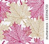 Maple Leaves Pattern  Spring...