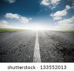 concept of the road for the... | Shutterstock . vector #133552013