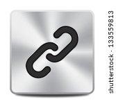 vector metal hyperlink icon  ... | Shutterstock .eps vector #133559813