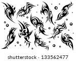 set of 10 tribal tattoo  set 5  | Shutterstock .eps vector #133562477