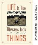 vintage old camera... | Shutterstock .eps vector #133564637
