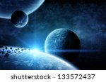Planet Landscape In Space