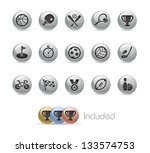 sports icons    metal round... | Shutterstock .eps vector #133574753
