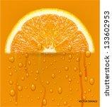 orange fruit with water drops... | Shutterstock .eps vector #133602953