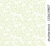 seamless apple pattern vector | Shutterstock .eps vector #133619807