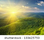 Stock photo sunny morning in mountain beautiful landscape composition 133625753