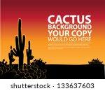 Cactus Background. Eps 8 Vecto...