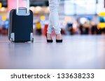 pretty young female passenger... | Shutterstock . vector #133638233