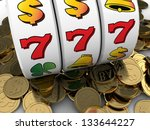 3d illustration of jackpot with ... | Shutterstock . vector #133644227
