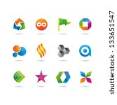icons glossy set | Shutterstock .eps vector #133651547