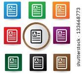 resume sign vector | Shutterstock .eps vector #133668773