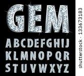 vector silver alphabet with... | Shutterstock .eps vector #133673183