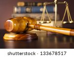 scales of justice  gavel and... | Shutterstock . vector #133678517