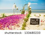 beach wedding venue  focus on... | Shutterstock . vector #133680233