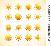 suns icons | Shutterstock .eps vector #133685903