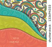 beautiful abstract invitation... | Shutterstock .eps vector #133694333