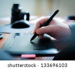 graphic designer using digital... | Shutterstock . vector #133696103