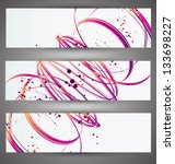 set of bright banners. vector | Shutterstock .eps vector #133698227